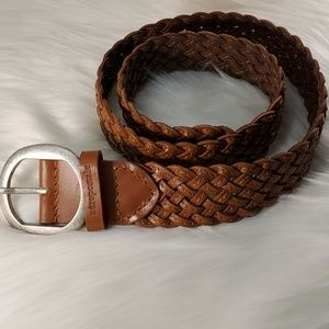 AEROPOSTALE BROWN BRAIDED LEATHER BELT size SP